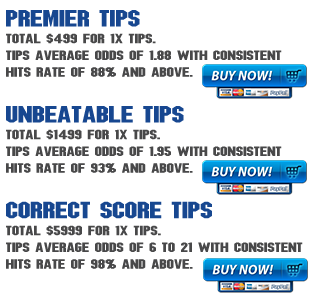 Details of premier tips and correct score tips